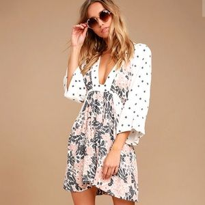 Free People Tallula Plunge Mini Dress